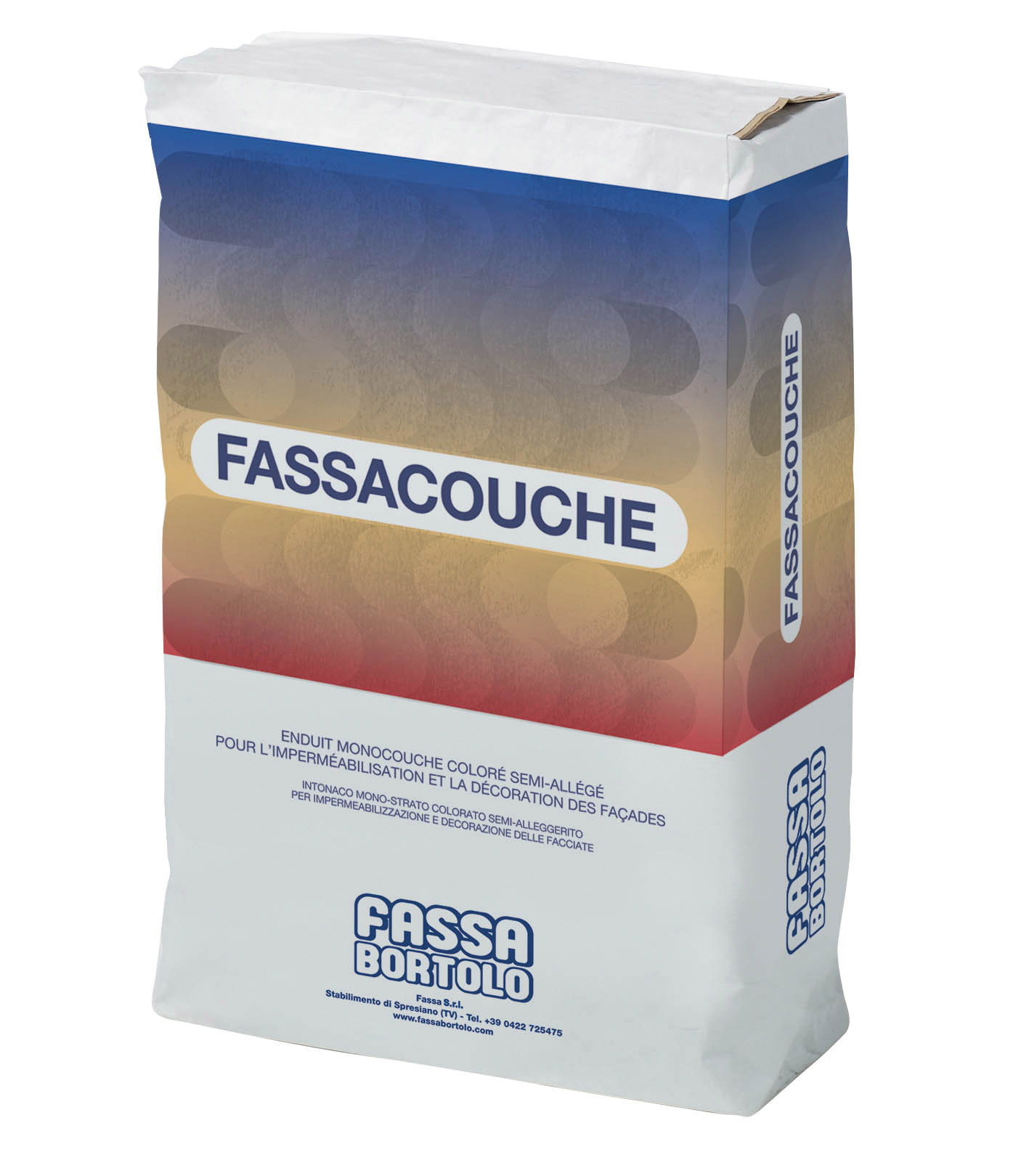 FASSACOUCHE: Semi-lightweight through coloured render for protecting and decorating facades