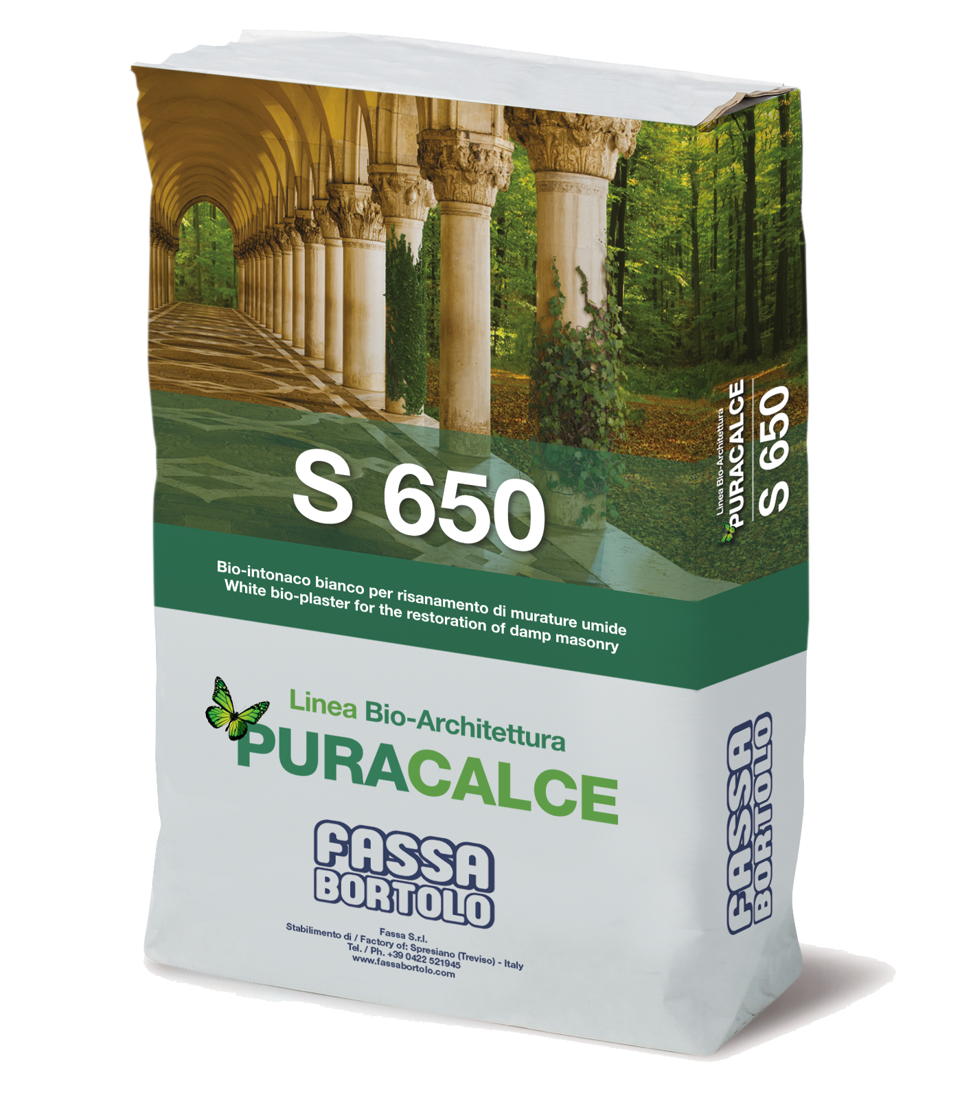 S 650: Bio white undercoat for the restoration of damp masonry, for interiors and exteriors